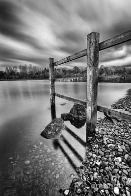 Fence In The Loch  Art Print by John Farnan