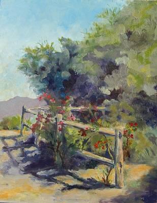 Painting - Fence Line II by Marlene Kingman