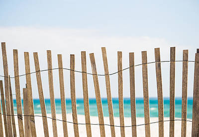 Photograph - Fence On The Beach by Shelby  Young