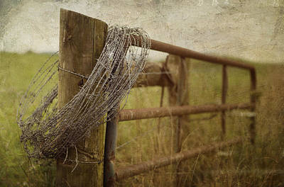 Fence Post Art Print by Kathy Jennings