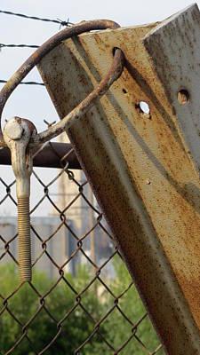 Photograph - Fence Rusty Bolt by Anita Burgermeister