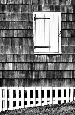Photograph - Fence Shutter And Weathered Wall by Gary Slawsky