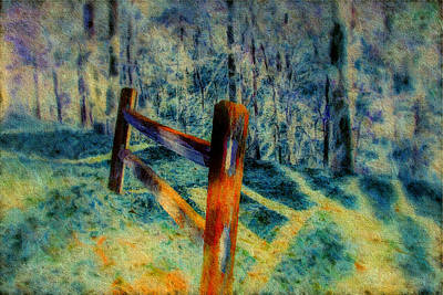 Painting - Rustic - Surreal - Fence To Nowhere  by Barry Jones