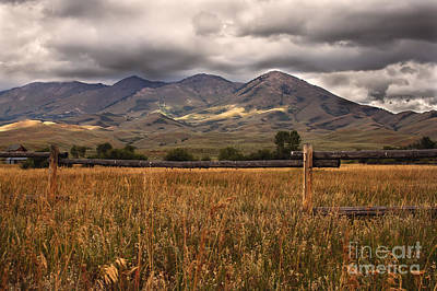 Photograph - Fence View by Robert Bales