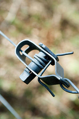 Fence Wire Tightener Art Print by Gustoimages/science Photo Library