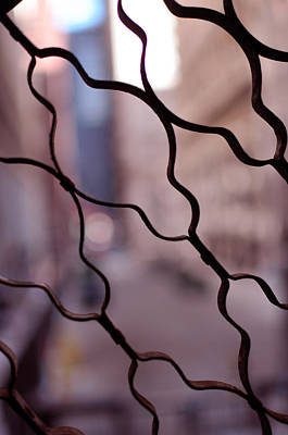 Photograph - Fenced Alley by Miguel Winterpacht