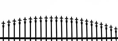 Wrought Iron Fence Photograph - Fenceline by Rebecca Cozart