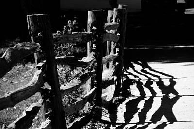 Photograph - Fences - B-w - Sturbridge Village by Jacqueline M Lewis