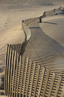 Photograph - Fences And Shadows by Robert Banach
