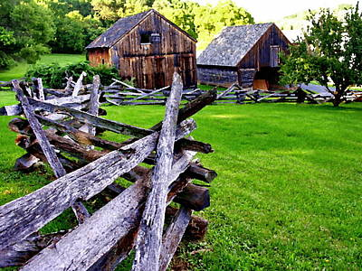 Fences At Burnside Plantation Bethlehem Pa Art Print