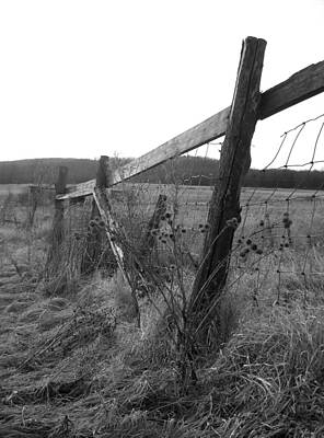Fences Black And White I Art Print