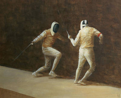 Technical Painting - Fencing by Lincoln Seligman