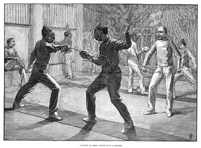 Fencing Painting - Fencing School, 1890 by Granger