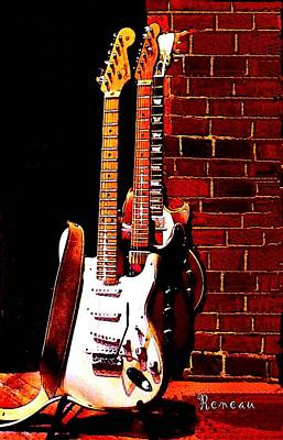Photograph - Fender And Gibson Guitars by Sadie Reneau