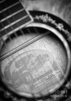 Photograph - Fender Guitar Black And White 2 by Glenn Gordon