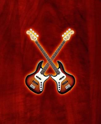 Fender Jazz Bass Lefty Art Print by Doron Mafdoos