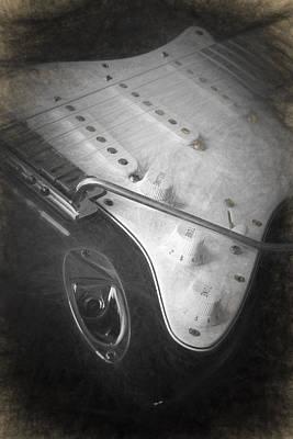 Digital Art - Fender Strat by Ian Merton