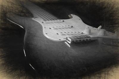 Digital Art - Fender Stratocaster by Ian Merton