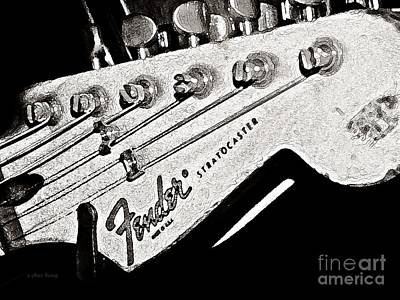 Fender  Watercolor Art Print by Chris Berry