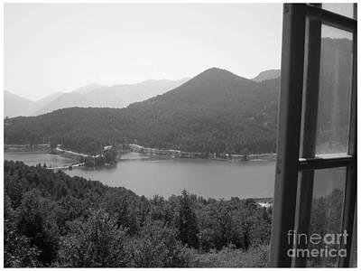 Photograph - Feneos Lake In Black by Katerina Kostaki