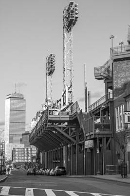 Photograph - Fenway Black And White by John McGraw