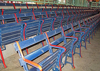 Photograph - Fenway Blues Seats by Barbara McDevitt
