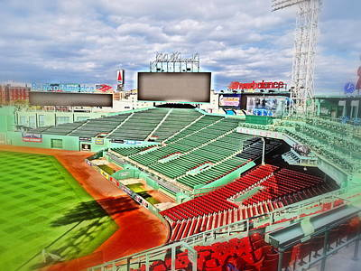 Photograph - Fenway In Abstract by Caroline Stella