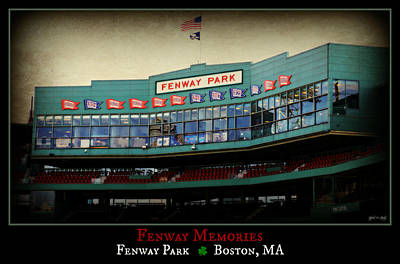 The Green Monster Photograph - Fenway Memories - Poster 2 by Stephen Stookey