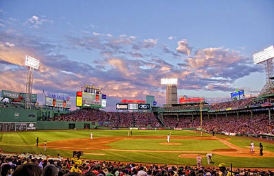 Photograph - Fenway Night by Donna Doherty