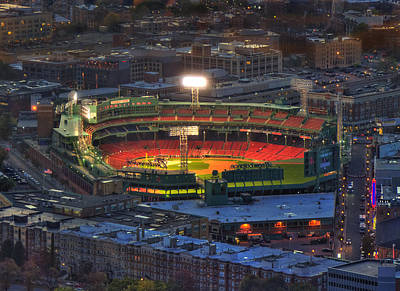 Fenway Park At Night - Boston Print by Joann Vitali