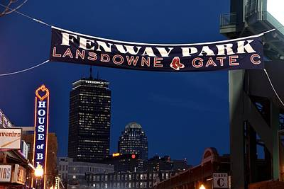 Photograph - Fenway Park Banner by Toby McGuire