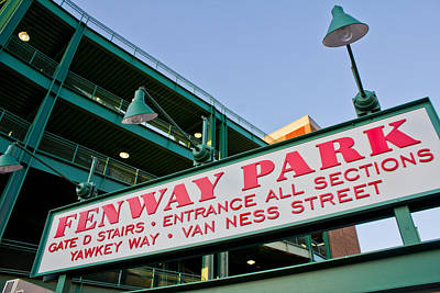 Red Soxs Photograph - Fenway Park Boston by John McGraw