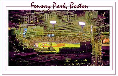 Fenway Park Boston Massachusetts Digital Art Print by A Gurmankin