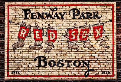 Baseball Photograph - Fenway Park Boston Redsox Sign by Bill Cannon