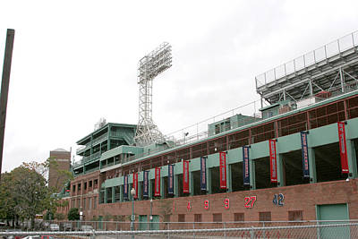 Lengendary Photograph - Fenway Park Exterior 1 by Kathy Hutchins