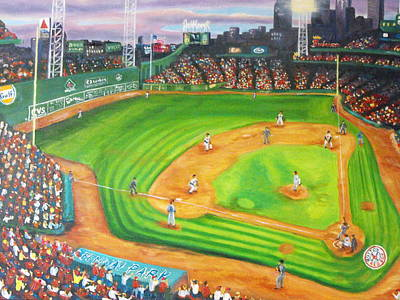 Fenway Park Boston Painting - Fenway Park Fantasy by Michell Givens