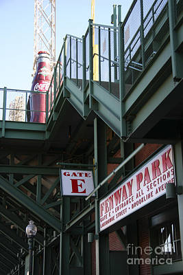 Red Sox Tickets Photograph - Fenway Park Gate E by David Leiman