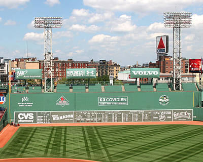 Lengendary Photograph - Fenway Park Green Monster 1 by Kathy Hutchins