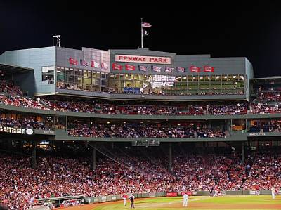 Landmarks Rights Managed Images - Fenway Park Royalty-Free Image by Juergen Roth