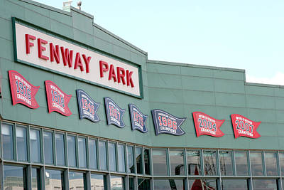 Lengendary Photograph - Fenway Park by Kathy Hutchins