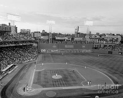 Red Photograph - Fenway Park Photo - Black And White by Horsch Gallery