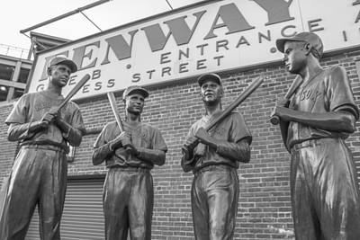 Fenway Park Statues Art Print by John McGraw