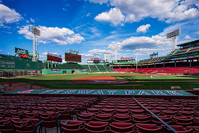 Sports Royalty-Free and Rights-Managed Images - Fenway Park by Tom Gort