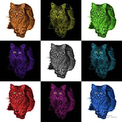 Digital Art - Feral Cat - 9905 F M -v2 by James Ahn
