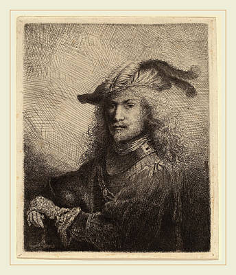 1616 Drawing - Ferdinand Bol Dutch, 1616-1680, Portrait Of An Officer by Litz Collection