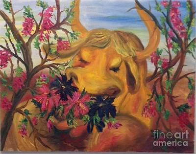 Painting - Ferdinand The Bull by Irene Pomirchy