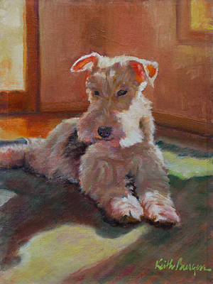 Wire Fox Terrier Painting - Fergie by Keith Burgess