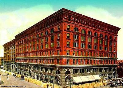 Painting - Ferguson Mckinney's Department Store In St. Louis Mo 1910 by Dwight Goss