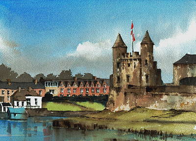 Mixed Media - Fermanagh Enniskillen Castle by Val Byrne