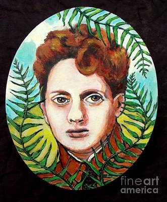 Painting - Dylan Thomas Tribute Portrait Fern Hill by Patience